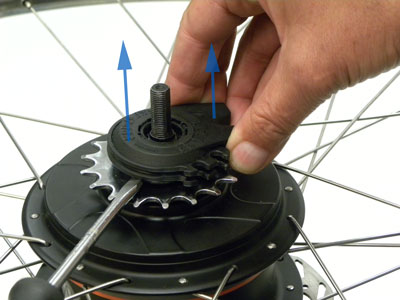 Figure 44. Lift and remove hub-interface