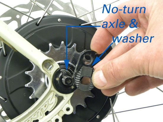 Figure 16. No-turn washer and axle