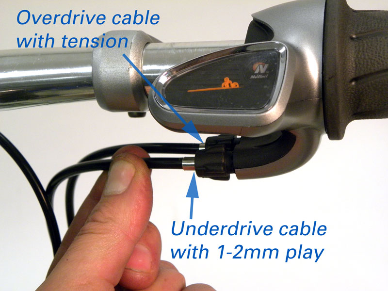 Figure 35. Check play at underdrive cable