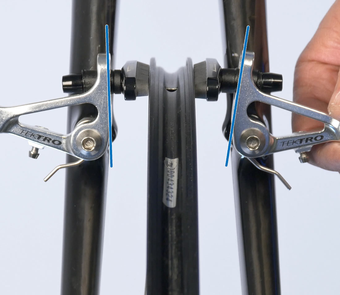Different spacer arrangement showing different arm positioning