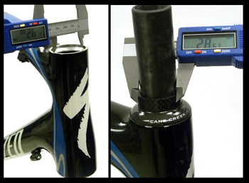 Figure 12. Integrated system in the upper headtube, IS42/28.6 (Example #5)
