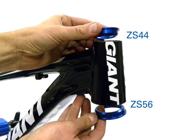 Figure 6. A tapered headtube with different sizing for lower and upper headtubes