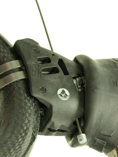 Shift cable installs from under the lever body
