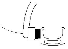 Figure 2. Pad placement for a sidepull caliper