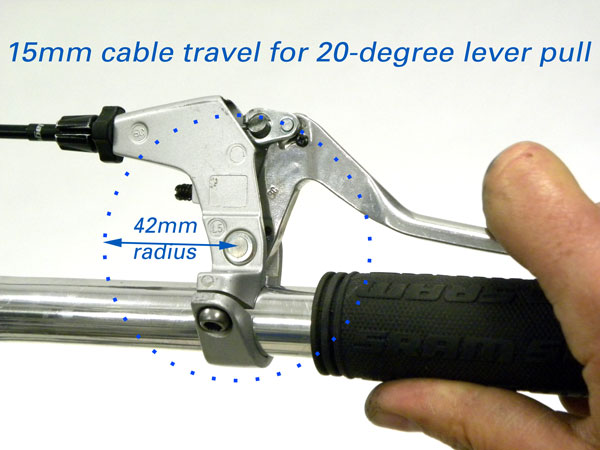 Cable Lever Arm : Travel agent™ installation and adjustment park tool