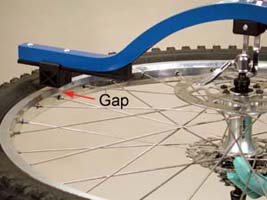 Figure 6. A gap between tool and rim indicates an error in centering.
